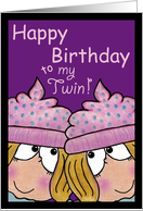 happy birthday to my twin twin sisters card