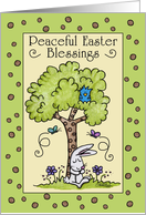 Happy Easter-Bunny Resting under a Tree card