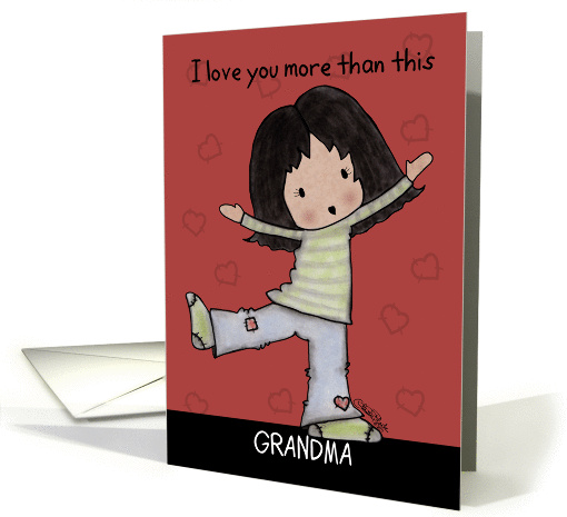 Birthday for Grandma-Little Kawaii Girl with Open Arms card (1081854)