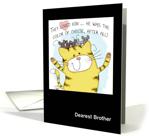 Customizable Happy Birthday to brother- Yellow Tabby Cat... (1246658)