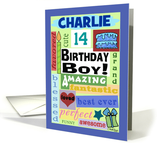 Happy Birthday Name and Age Specific Charlie 14-Good Word... (1327260)
