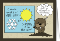 Humorous Groundhog Day-Meteorologist card