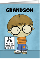 Customize Congratulations Getting Glasses for Grandson- Little Boy card