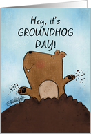 Happy Groundhog Day-Dig This card