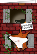 Welcome to the Neighborhood Fox and Crow Look Out Windows card