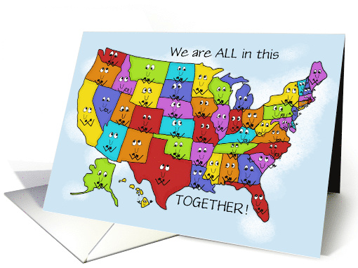 Encouragement During Covid 19 Virus United States Shows Love card
