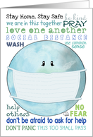 Encouragement During Covid 19 Global Pandemic Earth with Medical Mask card