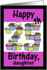 25th Birthday Cupcakes-Daughter card