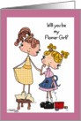 Little Tailor-Flower Girl card