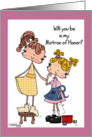 Little Tailor- Matron of Honor card