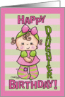Striped Tights- Birthday daughter card