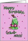 Little Alligator Girl-Birthday Grandniece card