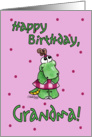 Little Alligator Girl-Birthday Grandma card