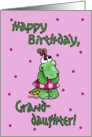 Little Alligator Girl-Birthday Granddaughter card