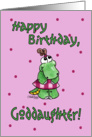 Little Alligator Girl-Birthday Goddaughter card