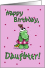 Little Alligator Girl-Birthday Daughter card
