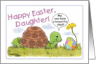 Turtle Admires Easter Egg-Daughter card