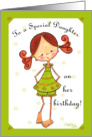 Red Haired and Freckled Birthday for Daughter card