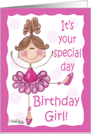 Cute Ballerina-Birthday Girl-Special Day card