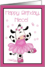 Cow Ballerina-Birthday Niece card