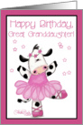 Cow Ballerina-Birthday Great Granddaughter card