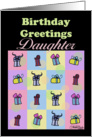 Birthday for Daughter-Gifts Galore card