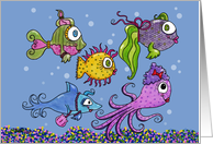 Girls' Night Out-Fancy Fish card
