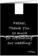 Thank You to Wedding Officiant -Priest (Father) card
