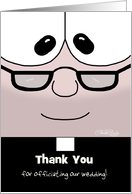 Customizable Thank You to Wedding Officiant -(Older) Reverend card