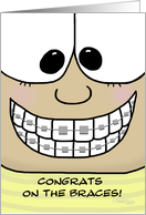 Congratulations on Getting Braces card