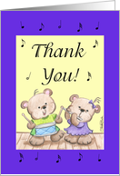 Two Instrumental Bears-Thank You card