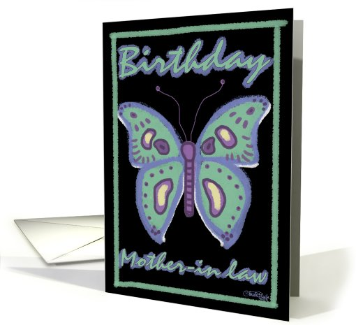 Butterfly Birthday for Mother-in-law card (623847)