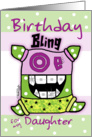 Birthday for Daughter -Bling card