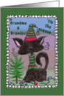 Christmas for Grandparents- Black Cat and Tree card