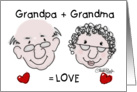 Happy Anniversary for Grandparents from Child- Equals Love card