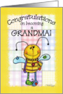 Congratulations on Becoming a Grandma- Primitive Bee card