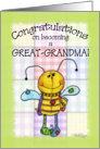 Congratulations on Becoming a Great-Grandma- Primitive Bee card