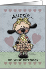 Happy Birthday for Auntie-Primitive Lamb-God Bless Ewe card