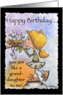 Happy Birthday -You are like a Granddaughter-Little Girl with Bird Nest card