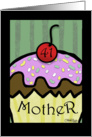 41st Birthday for Mother- Large Cupcake with Cherry on Top card