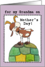Happy Mother's Day for Grandma-Goat on a Hill-from Grand Kid card