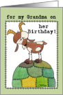 Happy Birthday for Grandma-Goat on a Hill-from Grand Kid card