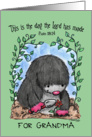 Happy Birthday for Grandma-Mole Planting Flower-Scripture card