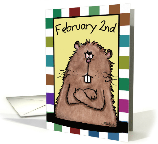 Happy Groundhog Day February 2nd Groundhog card (890213)