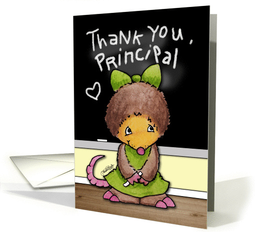 Thank You for Principal- Mollie Mole at the Chalkboard card (925636)