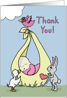 Thank You for Shower Gift-Baby Bundle with Animals card
