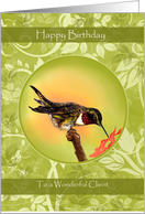 Client Birthday Cards Hummingbird card
