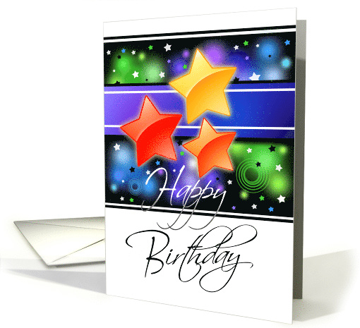 Shining Star Business Birthday card (1316364)
