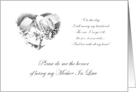 Cowboy and Cowgirl Children Mother In Law Invitation Card