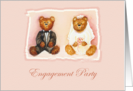 Teddy Bear Engagement Party Invitation card